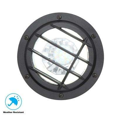 Low-Voltage Black Outdoor Integrated LED Landscape Well Light
