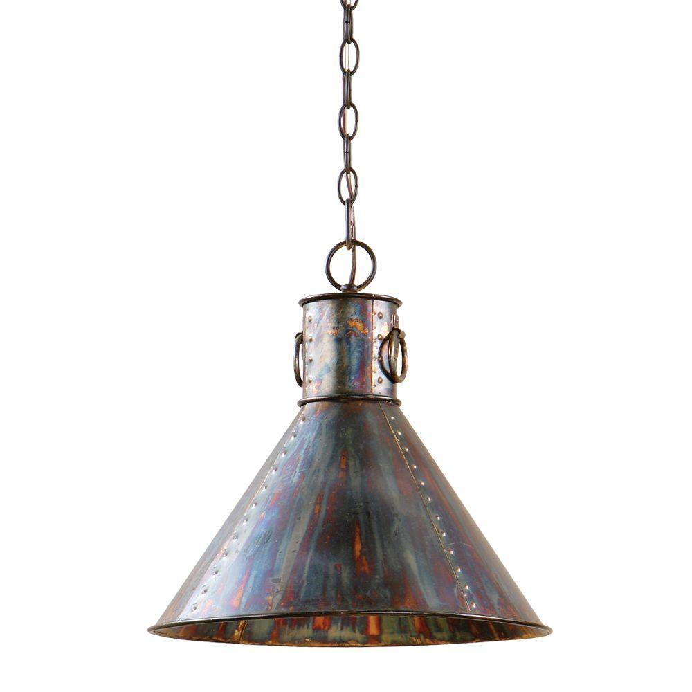 global direct 1 light oxidized bronze pendant 21923 the home depot