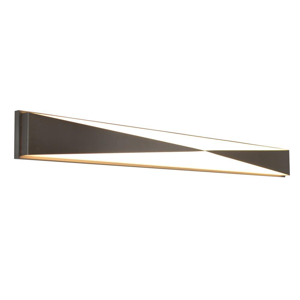 Novara 31-Watt 25 in. Satin Nickel Integrated LED Bath Light