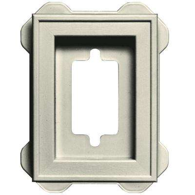 4.5 in. x 6.3125 in. #082 Linen Recessed Mini Mounting Block