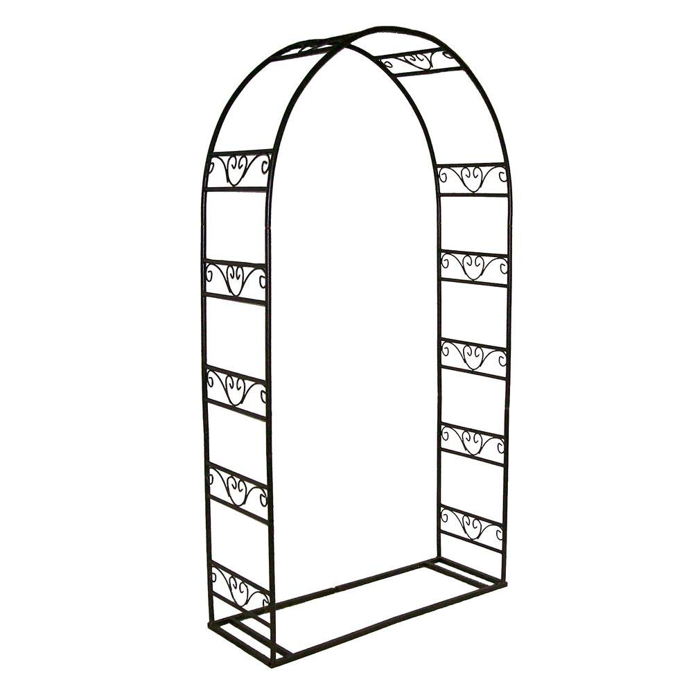 Oakland Living 88 in. x 48 in. Single Arbor with Base