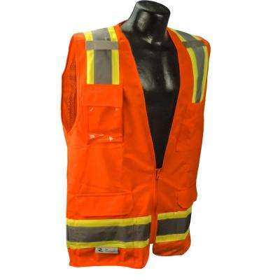 Large Surveyor Orange Two-Tone Vest
