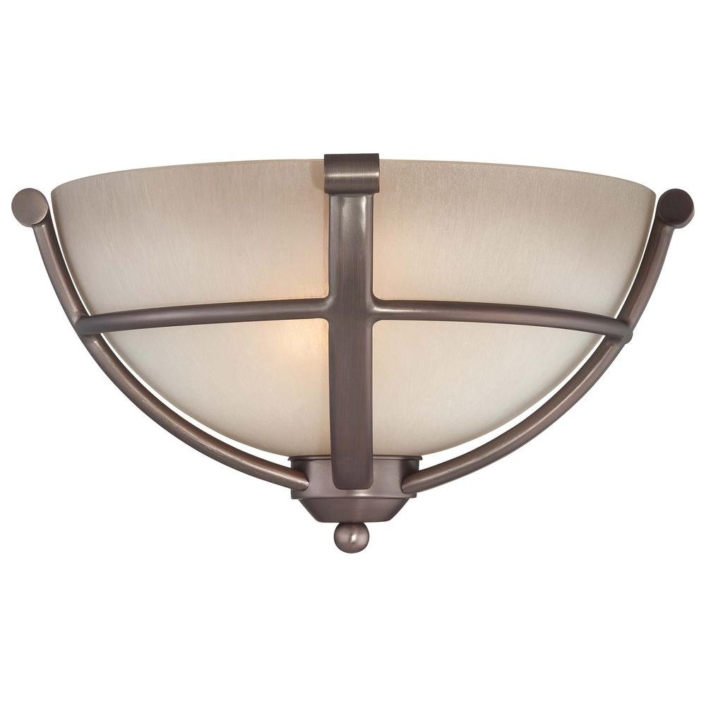 Minka Lavery Paradox 2-Light Harvard Court Bronze Sconce