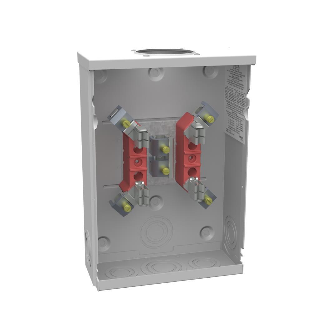 125 Amp 4 Terminal Ring Type Overhead/Underground Meter Socket