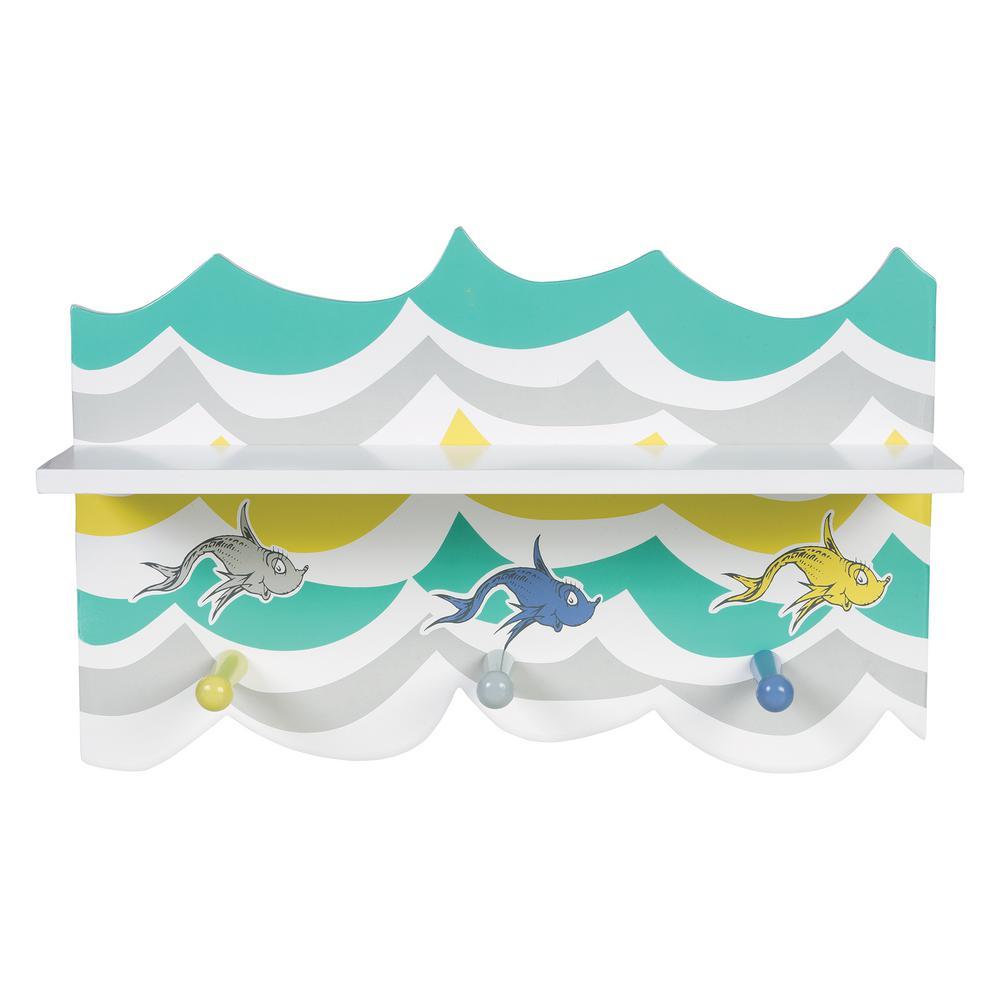 Trend Lab Dr. Seuss 18 in. W x 5 in. D New Fish Decorative Wall Shelf
