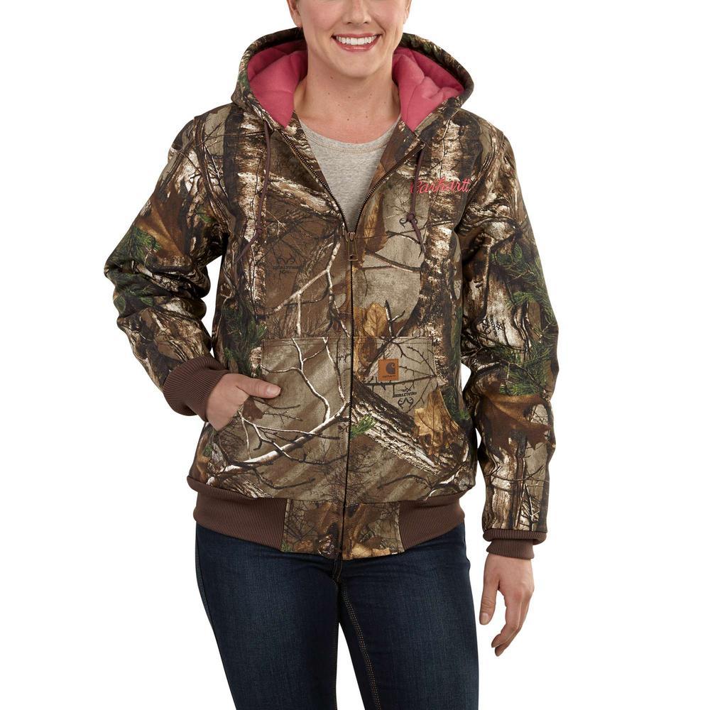 87073413a9359 Carhartt Women's Small Realtree Xtra Cotton Camo Active Jacket ...
