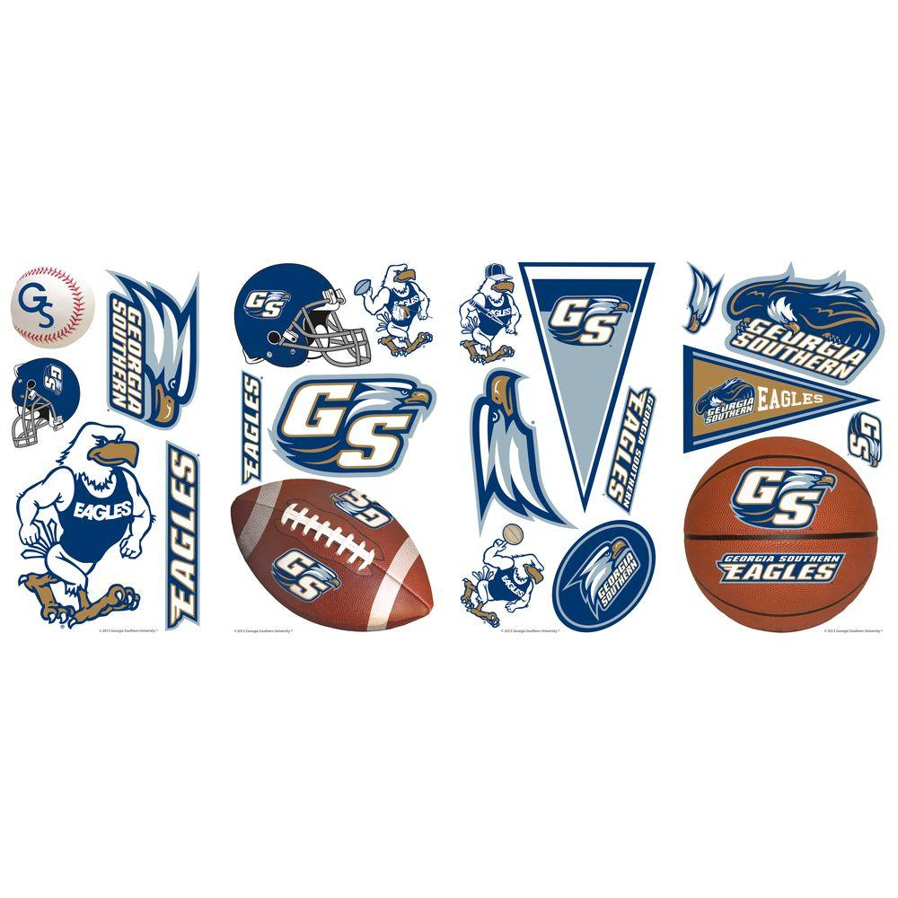 null 10 in. x 18 in. Georgia Southern University 21-Piece Peel and Stick Wall Decals