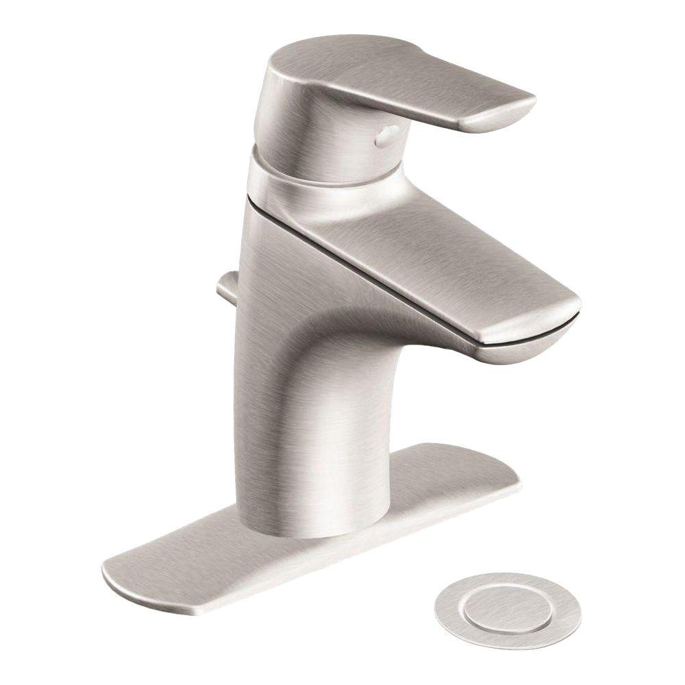 Method Single Hole Single-Handle Bathroom Faucet in Brushed Nickel