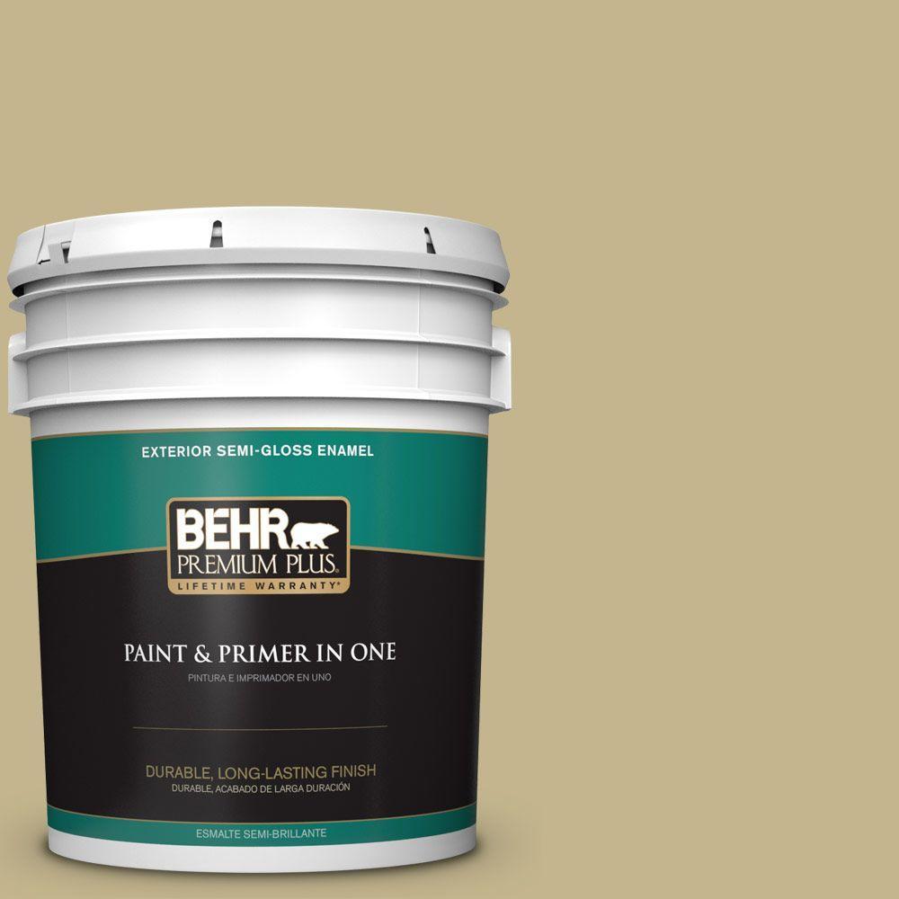 5-gal. #BIC-27 Modish Moss Semi-Gloss Enamel Exterior Paint