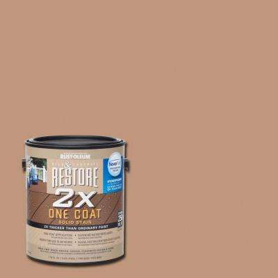 1 gal. 2X Buckskin Solid Deck Stain with NeverWet