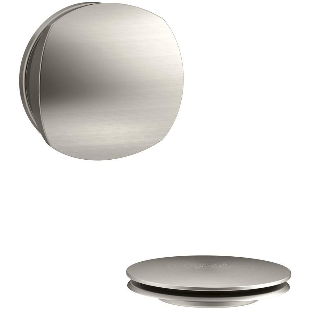 PureFlo Rotary Turn Bath Drain Trim, Vibrant Brushed Nickel