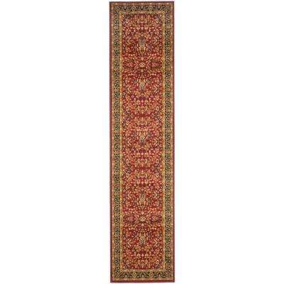 Lyndhurst Red/Black 2 ft. x 18 ft. Runner Rug