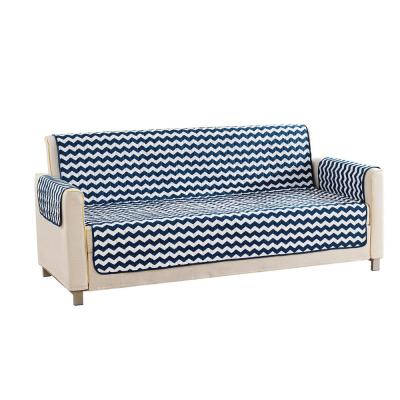 Fifi Water Resistant Navy Fit Polyester Fit Sofa Slip Cover