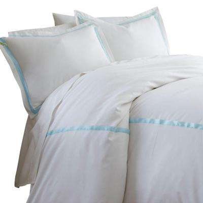 Blue 600-Count 3-Piece Queen Duvet Set