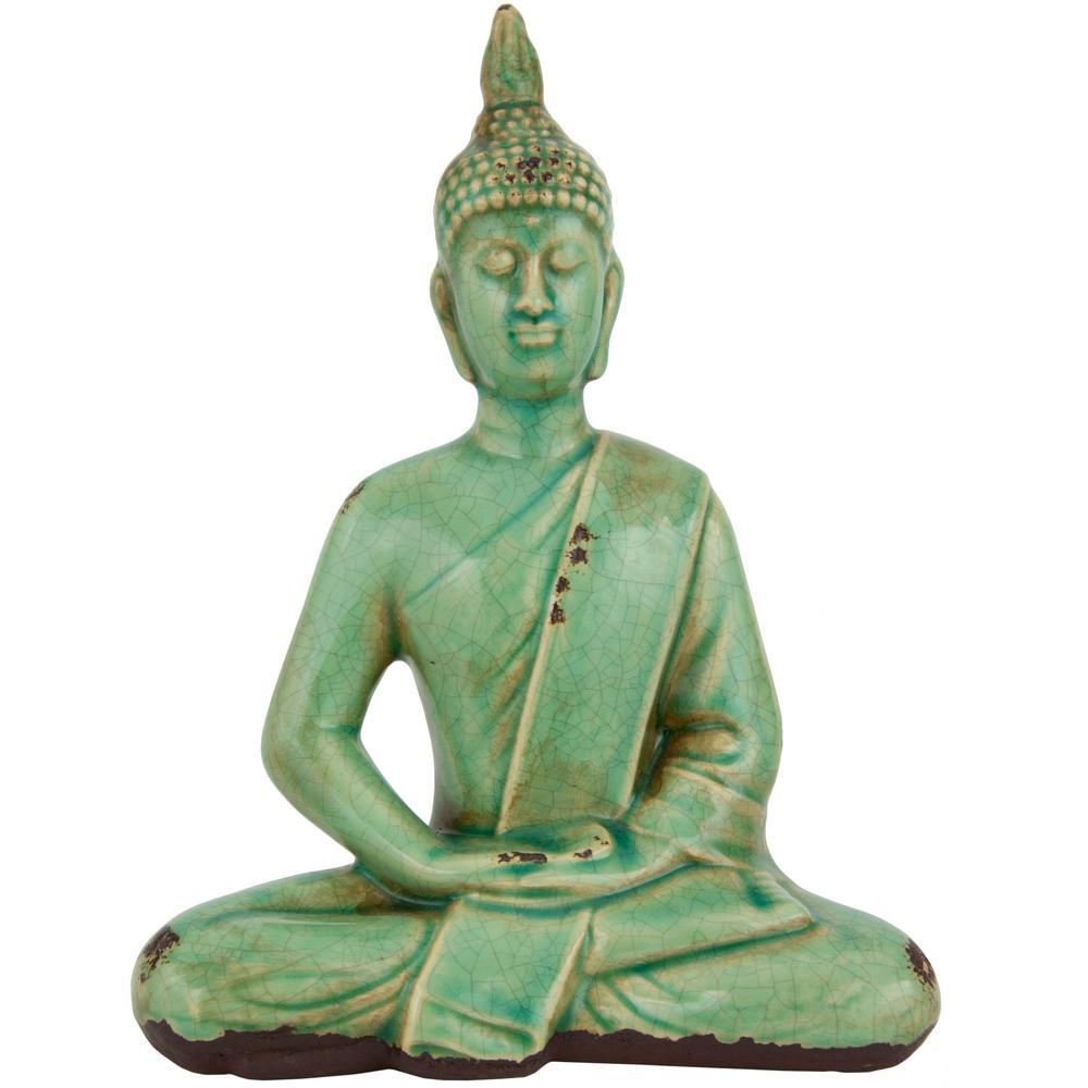 Oriental Furniture 9 in. Thai Sitting Buddha Decorative Statue