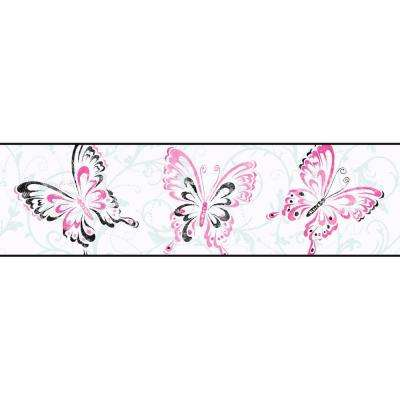Candice Olson Kids Butterfly Scroll Wallpaper Border