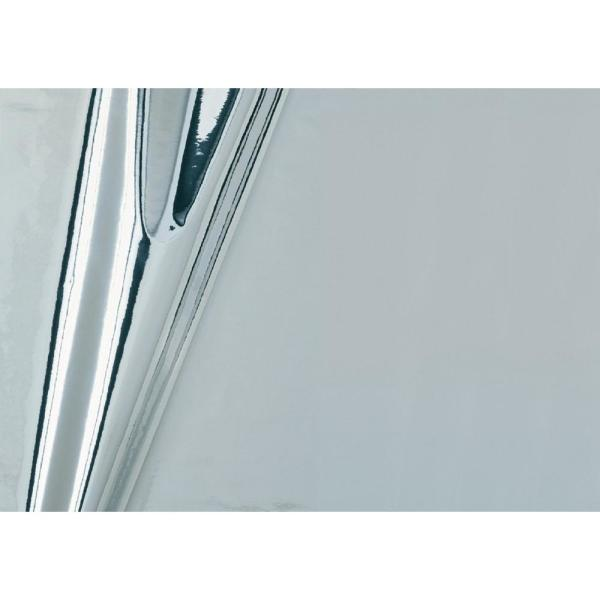 17 in. x 59 in. Glossy Silver Self-adhesive Vinyl Film for Furniture and Door Decoration