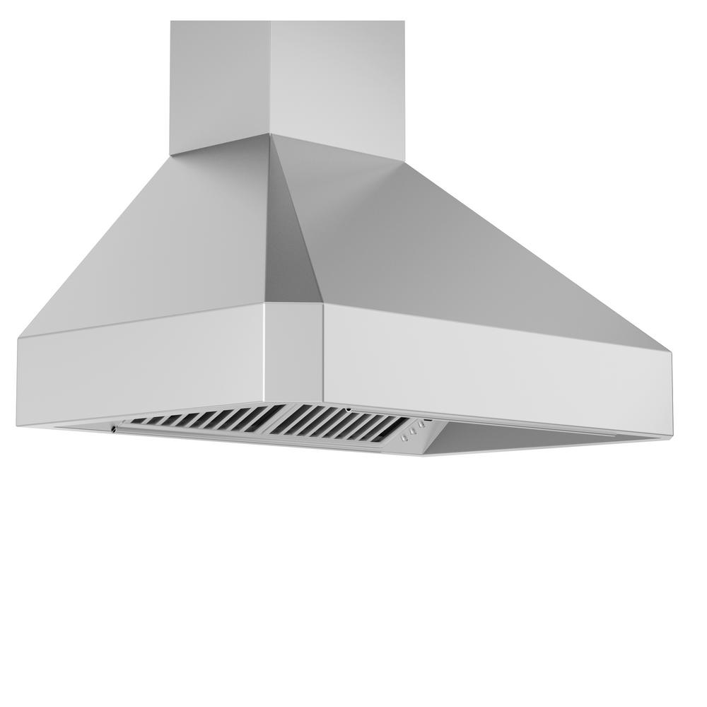 48 inch range hood wall mount crown molding zline kitchen and bath 48 in 1200 cfm wall mount range hood in stainless