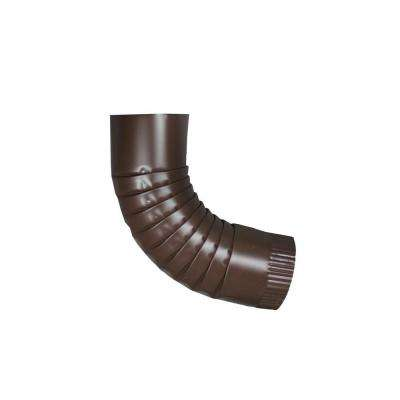 4 in. Round Royal Brown Aluminum Downpipe Elbow