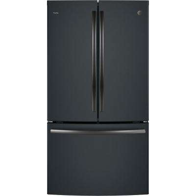 Profile 23.1 cu. ft. French Door Refrigerator in Black Slate, Counter Depth