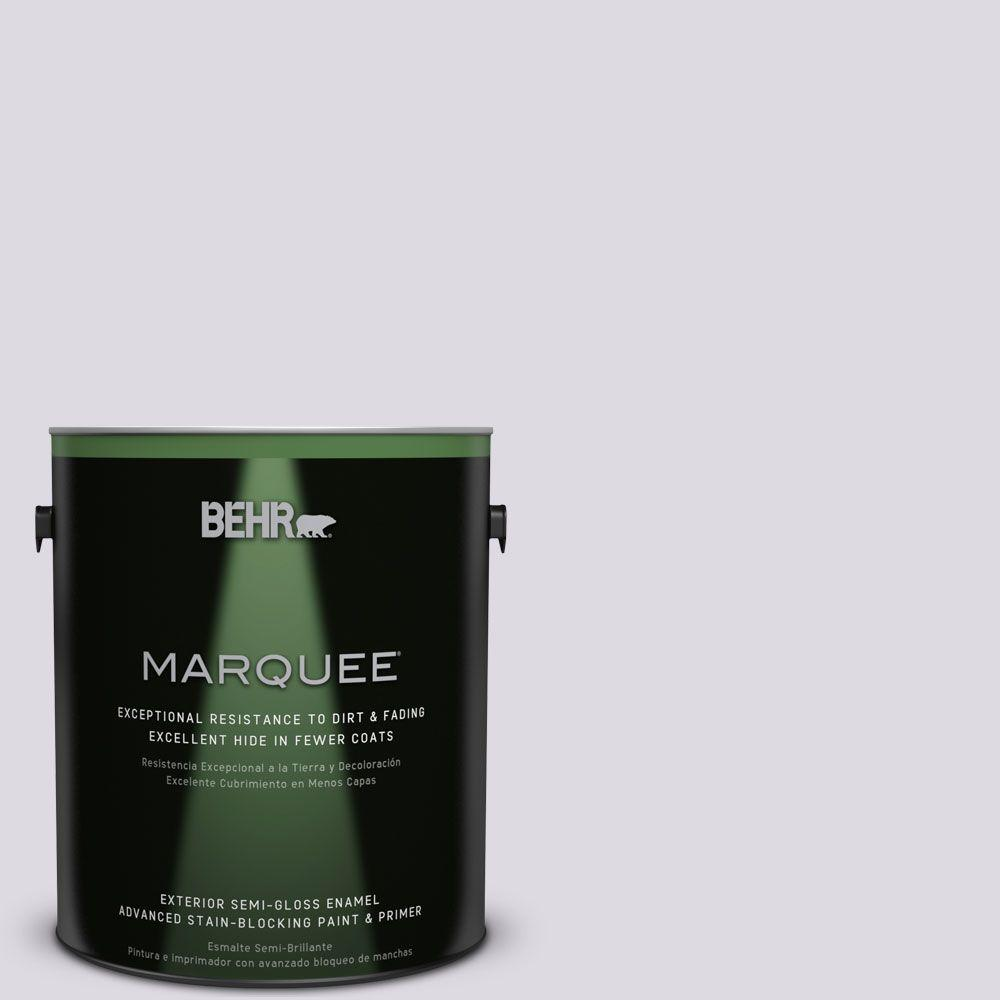 BEHR MARQUEE 1-gal. #PR-W1 Mystical Mist Semi-Gloss Enamel Exterior Paint