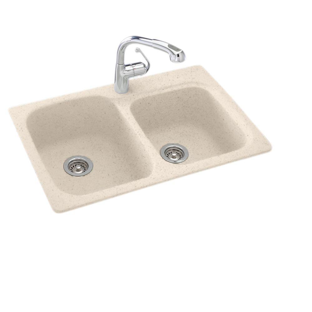 how install kitchen sink swan dual mount composite 33 in 1 bowl 4364