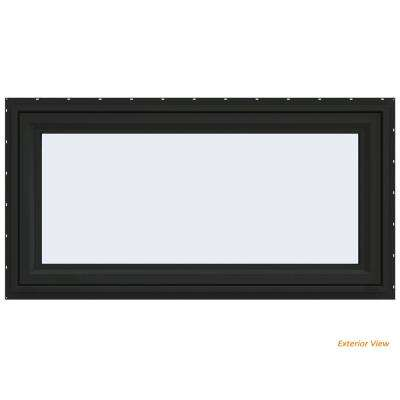 47.5 in. x 23.5 in. V-4500 Series Bronze Painted Vinyl Awning Window with Fiberglass Mesh Screen