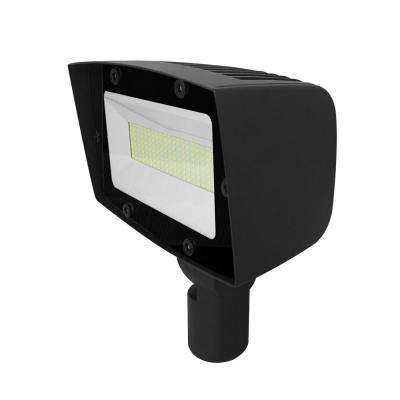 Asimo 100-Watt Bronze Outdoor Integrated LED Flood Light with Integrated Photocell Dimming Driver Surge Protector