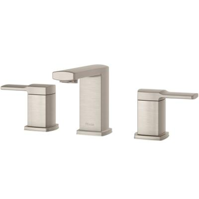 Deckard 8 in. Widespread 2-Handle Bathroom Faucet in Brushed Nickel