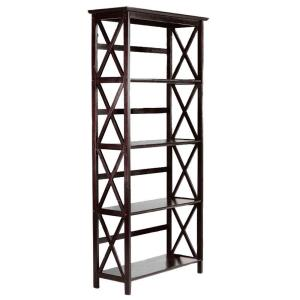 Casual Home Montego Espresso Open Bookcase 0218410820 The Home Depot