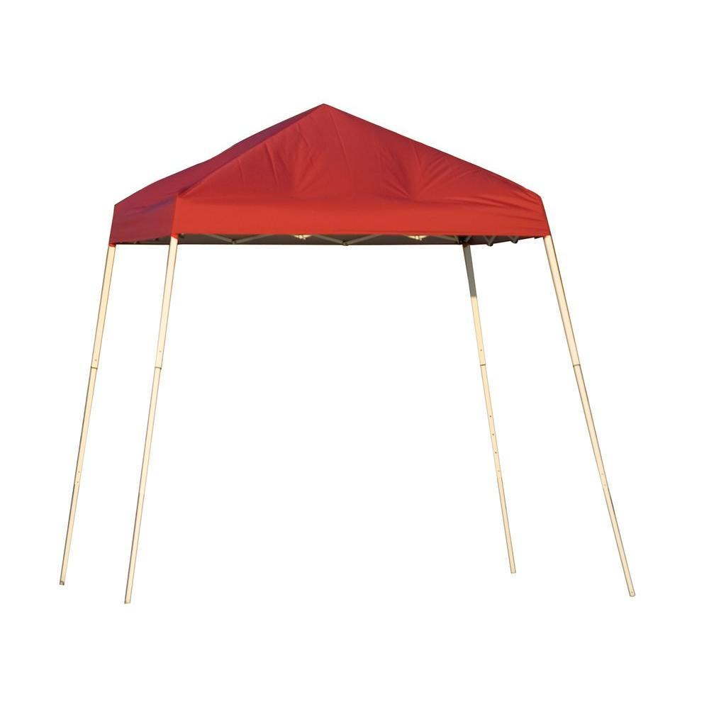 ShelterLogic Sports Series 8 ft. x 8 ft. Red Slant Leg Pop-Up Canopy