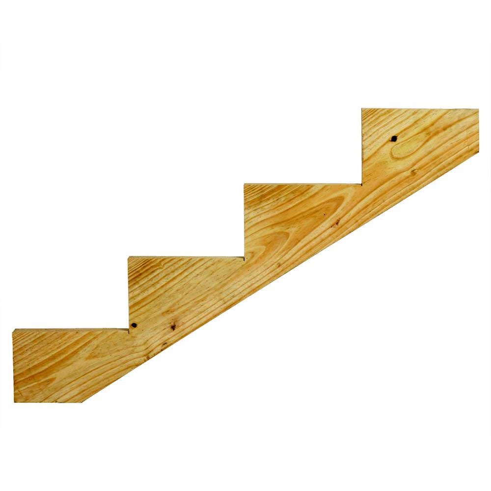 4-Step Ground Contact Pressure Treated Pine Stair Stringer-0623454 ...
