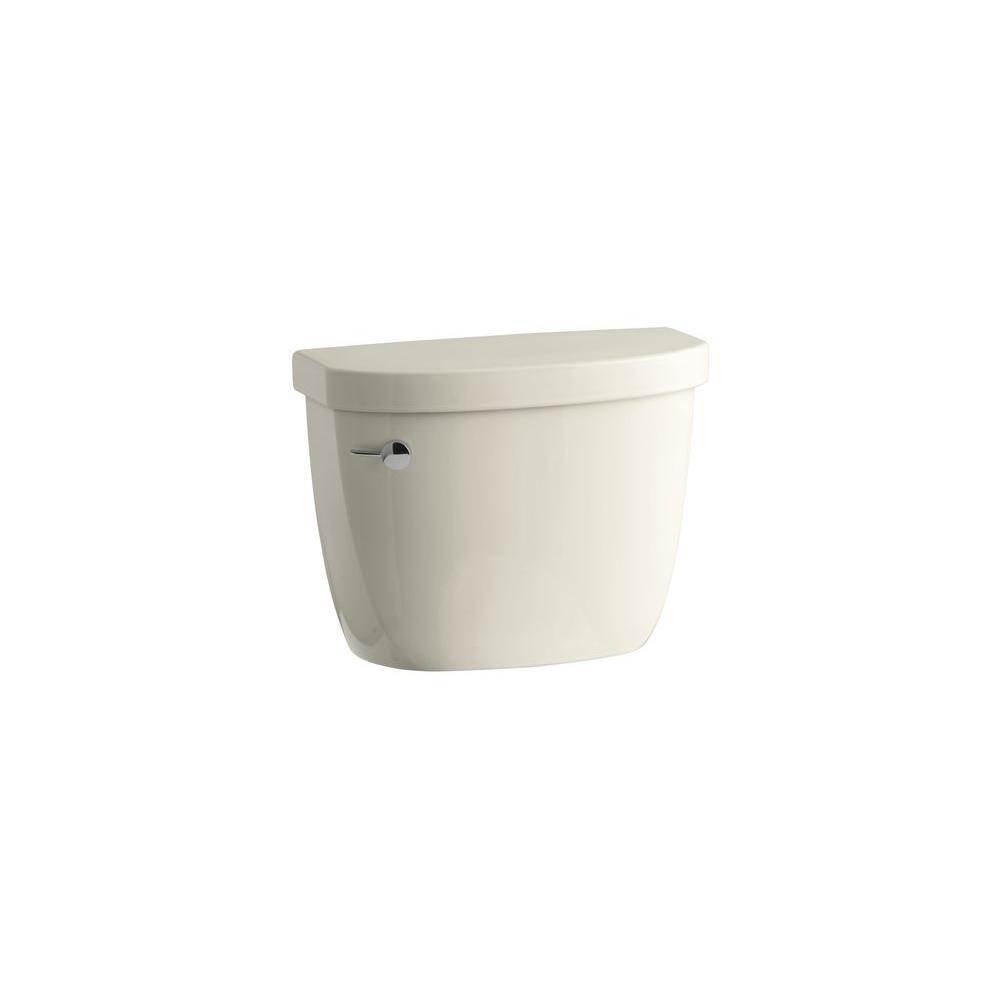 KOHLER Cimarron 1.6 GPF Single Flush Toilet Tank Only with AquaPiston Flushing Technology in Almond