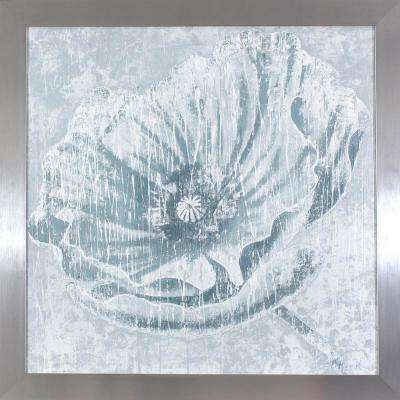 27.5 in. x 27.5 in. Distressed Ivory Flower Printed Framed Wall Art