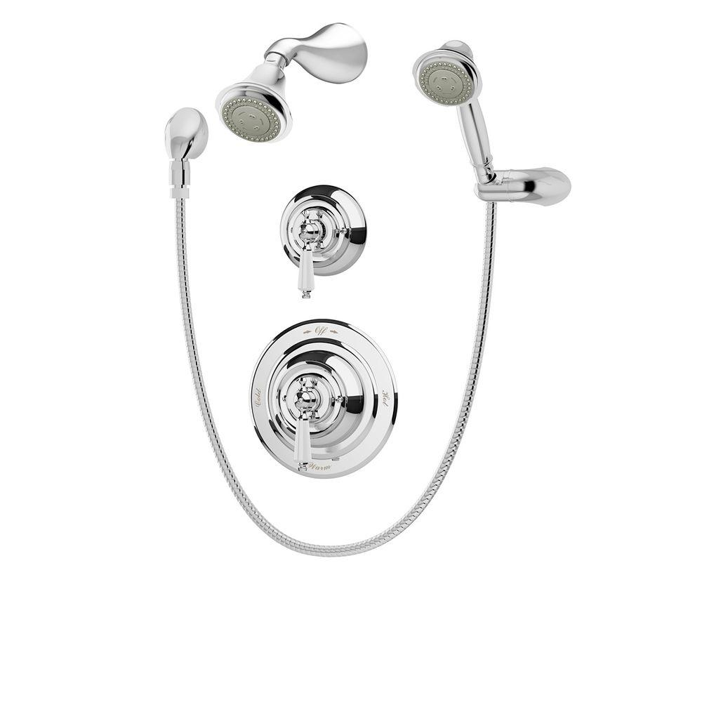 shower head and faucet combo. Symmons Carrington 2 Handle Shower Faucet with Hand Spray in Chrome  Valve Included
