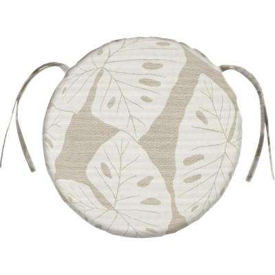 Sunbrella Radiant - Silver Round Outdoor Seat Cushion