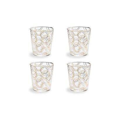 Bubbly Bar Glass 8 oz. Swirl Double-Old Fashion (Set of 4)