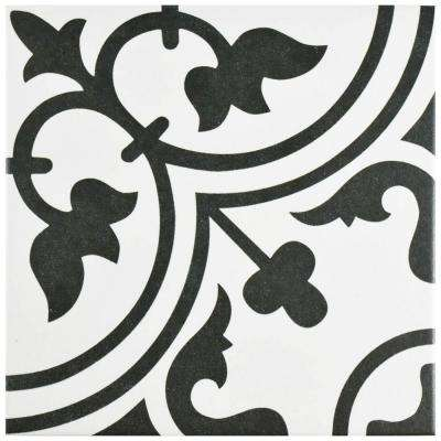 Arte White 9-3/4 in. x 9-3/4 in. Porcelain Floor and Wall Tile (10.76 sq. ft. / case)