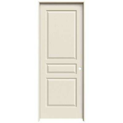 30 in. x 80 in. Avalon Primed Left-Hand Textured Hollow Core Molded Composite MDF Single Prehung Interior Door