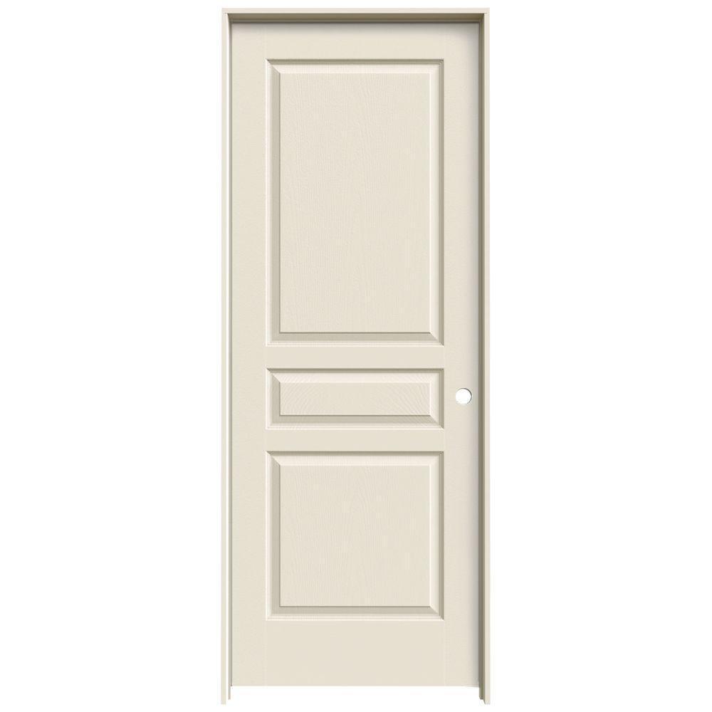Jeld wen 32 in x 80 in colonist primed right hand - 3 panel hollow core interior doors ...