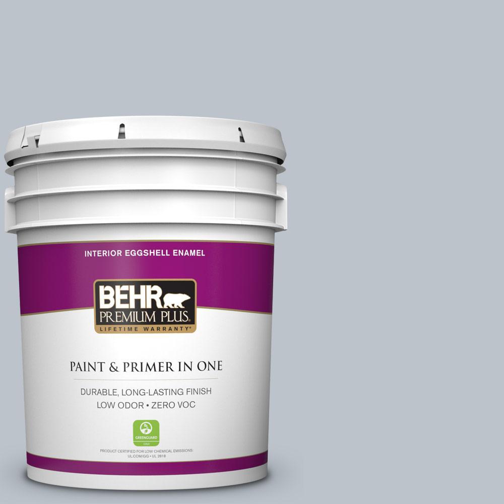 BEHR Premium Plus 5-gal. #N490-2 Icicles Eggshell Enamel Interior Paint