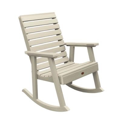Weatherly Whitewash Recycled Plastic Outdoor Rocking Chair