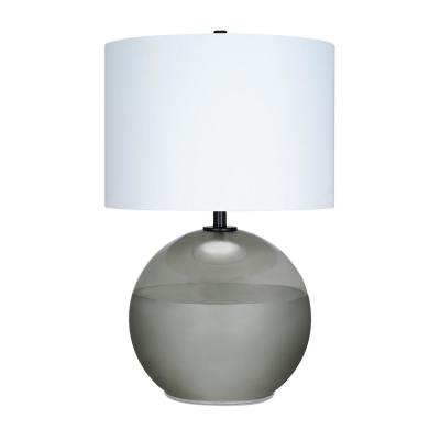 Cresswell 27.25 in. Smoke Transitional Table Lamp and LED Bulb
