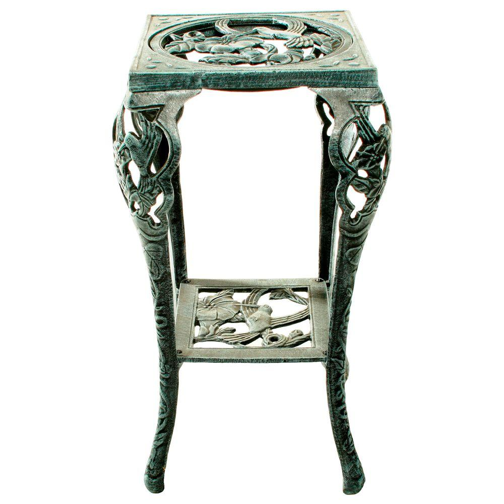Oakland Living 28 in. Metal Hummingbird Table Plant Stand
