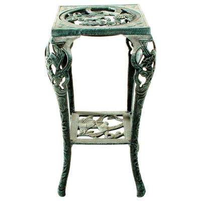 28 in. Metal Hummingbird Table Plant Stand