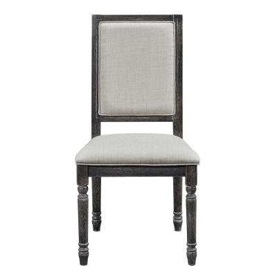 Muse Weathered Pepper Upholstered Back Chair (2-Count)