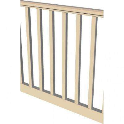 Original Rail 8 ft. x 36 in. Sand Vinyl Square Baluster Level Rail Kit