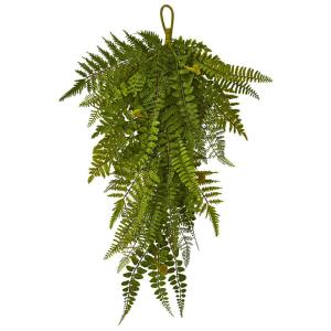 Nearly Natural 6871 33 Giant River Fern with Cone Hanging Basket