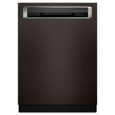 Top Control Built-In Tall Tub Dishwasher in Black Stainless with Third Level Rack and PrintShield, 46 dBA