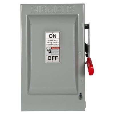 Heavy Duty 60 Amp 600-Volt 3-Pole Indoor Non-Fusible Safety Switch